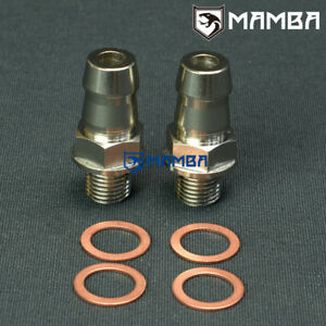 Mamba Turbo Water Coolant Adapter Fitting Kit 5 8 Barb For Hks Gt2835 Gt2835r