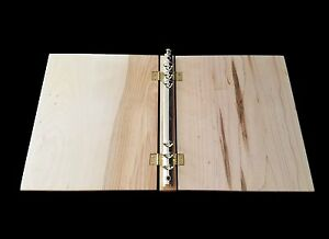 Maple Wood Notebook Paper Binder Natural Finish Can Be Laser Engraved