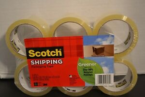 Scotch Greener Commercial Grade Shipping Packing Tape 12 Rolls New