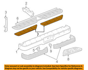 Gm Oem Rear Bumper step Pad Protector Guard Sill Plate Left 15574121