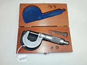 Brown Sharpe 0 1 Range No 13 Machinists Micrometer 0001 Usa