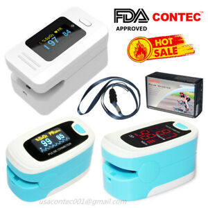 Usa finger Pulse Oximeter Spo2 Sensor Pulse Heart Rate Blood Oxygen Monitor fda