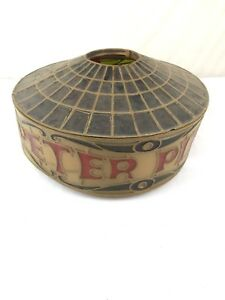 As Is Vintage Faux Stain Glass Peter Piper Lampshade Cover