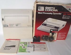 Smith Corona Xd 7600 Lot Word Processing Typewriter Autospell Tested Working