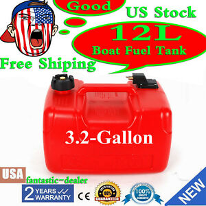 Us Boat Fuel Tank 12l 3 2 Gallon Marine Outboard Fuel Tank W Connector Portable
