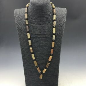 Pretty Chinese Antique Jade Handmade Necklace A702