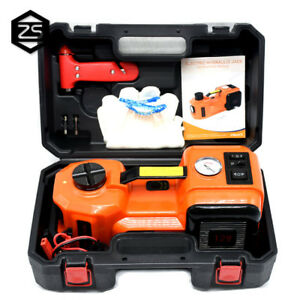 12v Dc 3 5t 7716lb Led Electric Hydraulic Car Electric Jack Repair Tool Kit