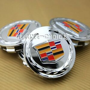 Set Of 4 Silver Car Alloy Rim Emblem Wheel Center Hub Cap Logo 3 1 4