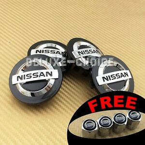 Set Of 4 Black Chrome Logo Car Alloy Rim Wheel Center Hub Cap For 54mm Us Seller