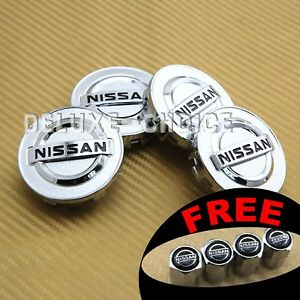Set Of 4 Silver Chrome Logo Car Alloy Rim Wheel Center Hub Cap For 54mm 2 1 8