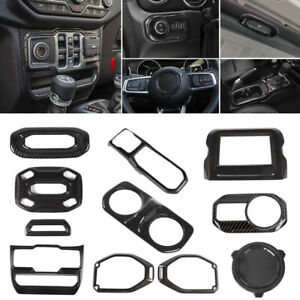 Carbon Fiber Custom Diy Upgrade Interior Trims Parts For 2018 Jeep Wrangler Jl