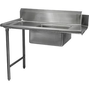 Stainless Steel Commercial Kitchen Soiled Left Dish Table 30