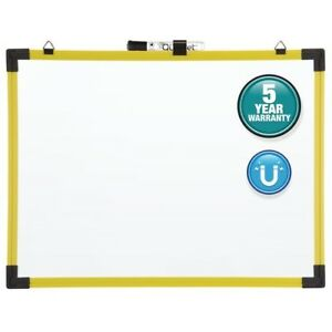 Quartet Industrial Magnetic Whiteboard 4 X 3 Yellow Frame 724126