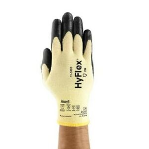 New Ansell Hyflex 11 500 Size 7 Kevlar Lined Cut Level 2 Safety Glove 12 Pack