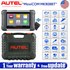 Autel Mk808bt Bluetooth Wifi Obd2 Full System Scanner Automotive Diagnostic Tool