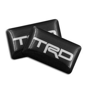 New For Toyota 4 Pcs Trd Black Sport Emblem Sticker 18mm X10mm 3d Logo