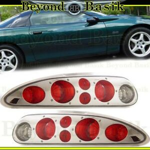 1993 2002 Chevy Camaro Euro Tail Lights Chrome Altezza Style