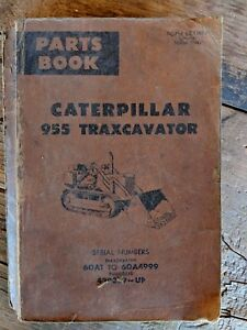 Cat Caterpillar Traxcavator 955 Parts Book Shop Vintage As Is Published 1971