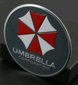 Metal Resident Evil Umbrella Corporation Car Auto Trunk Badge Emblem Car Gray