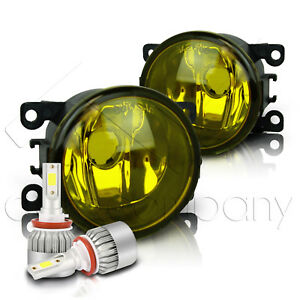 For 2012 2015 Fiat 500 Replacement Fog Lights W C6 Led Bulbs Yellow