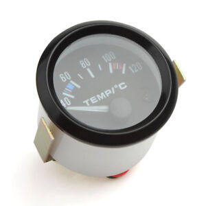 2 52mm 12v Universal White Led Electrical Car Water Temperature Guage Meter