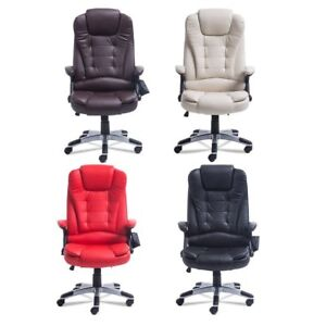 Adjustable Massage Game Chair Computer Desk Heating Ergonomic Executive Ma