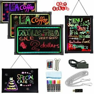 16 x24 flashing Erasable Led Neon Sign Hot Message Menu Writing Board Lot Zm