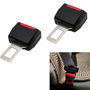 2x Universal Auto Car Safety Seat Belt Buckle Extension Extender Clip Black
