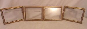 Set Of Four Gold Leaf Over Wood Portrait Frames 6 1 2 X 8 1 2 Hold 5 1 2 X 7 3 4