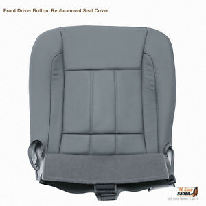 2008 Dodge Ram 1500 2500 3500 4500 Laramie Driver Bottom Leather Seat Cover Gray