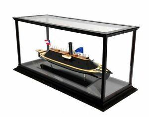 Css Virginia Civil War Ironclad Confederate Ship Model Boat With Case Assembled