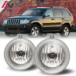 For Jeep Grand Cherokee 05 10 Clear Lens Pair Bumper Fog Light Oe Replacement