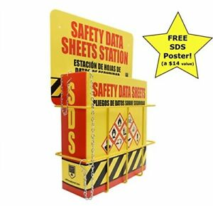 Sds Display Rack Complete Set W ring Binder Wire Rack Station Sign Heavy Duty