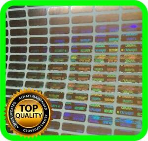 Holomarks 1050 Pcs Small Security Hologram Labels Void Warranty Stickers Tamper