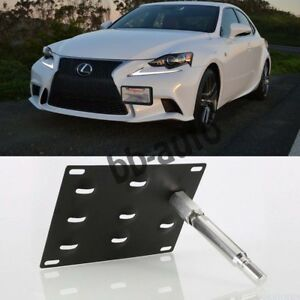 Tow Hook Hole License Plate Bracket Mount Holder For 14 17 Lexus Is250 Is350