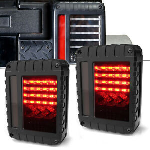 For Jeep Wrangler Jk 07 18 Led Tail Lights Brake Reverse Turn Signal Rear Lamps