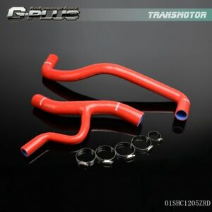 For 1996 04 Ford Mustang Gt 4 6l V8 Coolant Silicone Radiator Hose Kit Red