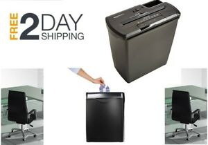 Cross Cut Paper Shredder Destroy Credit Card Heavy Duty Office Desk Business