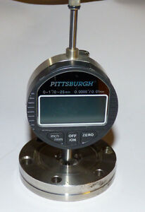 Pittsburgh Digital Test Indicator 0 25mm Gauge With 2 75 Flange Holder Post