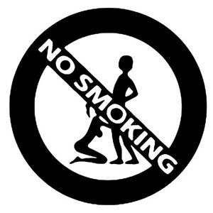 5 3inch Sexy Girl And Boy Suck No Smoking Car Styling Sticker Funny Vinyl Decals