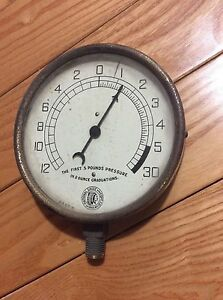 Vintage Pressure National Gauge And Equipment Co Indian Head
