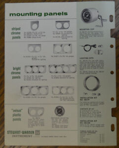 1965 Stewart Warner Catalog Gauge Panels Displays Hot Rod Custom Flathead Ford