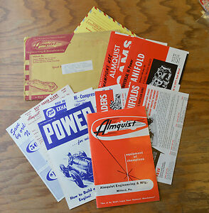 Vtg 1951 Hot Rod Parts Catalog Manual Nos Flathead Ford Intake Head Old Scta Ufo
