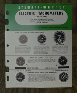 1951 Stewart Warner Catalog Brochure Gauge Tach Vtg Speedometer Panel Hot Rod