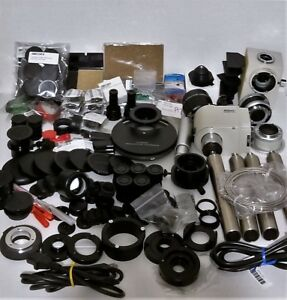 200 Nikon Microscope Parts Condensers Dust Caps Lamphouse Adapters