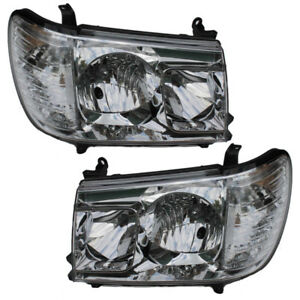 Headlights Toyota Land Cruiser 100 1998 1999 2000 2001 2002 2007 Set Crystal