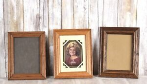 Antique Lot Of 3 Vintage Wood Picture Frames