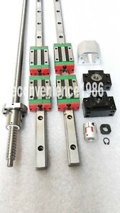 Hgr25 1000mm Hiwin Linear Rail Hgh25ca rm2510 1000mm Ballscrew bf20 bk20 Kit