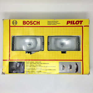 Bosch Halogen Driving Lamps Pilot 150 Universal Fog Lights Complete Box Kit 12v