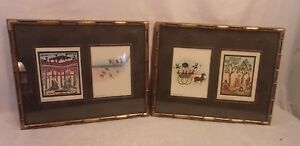 Pair Of Vintage Faux Bamboo Frames15x18 3 4 Holds 14x17 1 2 Molding 1 2